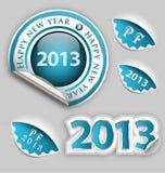 Dekorationelemente des glücklichen neuen Jahres Stockbilder