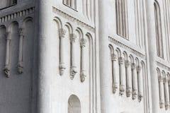 Dekorationen auf Wänden der Kirchen-Fürbitte der heiligen Jungfrau auf Ne Lizenzfreie Stockbilder