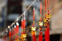 Dekorationen des Chinesischen Neujahrsfests in Mexiko City 2016 Stockbilder