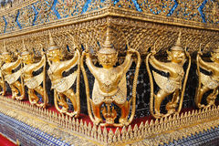 Dekorationen des Ubosoth, Bangkok, Thailand Stockfotografie