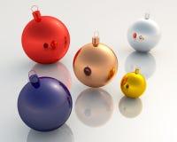 Dekorationen des Weihnachten 3D Lizenzfreie Stockfotografie