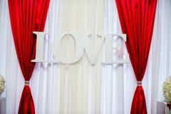 Dekorationen für das Hochzeitsfest Stockbilder