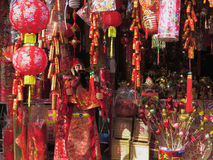 Dekorationen für Feier des Chinesischen Neujahrsfests Stockfotografie