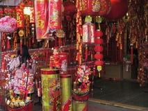 Dekorationen für Feier des Chinesischen Neujahrsfests Stockfotos