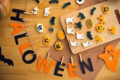 Dekorationen für Halloween Stockfotos