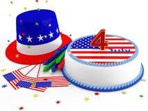 Dekorationen für Unabhängigkeitstag stock abbildung