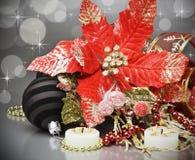 Dekorationen für Weihnachten lizenzfreies stockbild