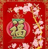 Dekorationen und Lucky Symbols des Chinesischen Neujahrsfests Lizenzfreie Stockbilder