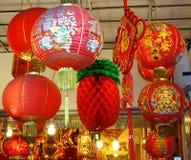 Dekorationen und Lucky Symbols des Chinesischen Neujahrsfests Lizenzfreie Stockfotos