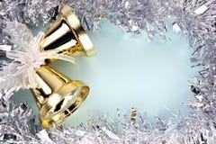 Dekorationen versilbern Band für Weihnachten und neues Jahr. Stockfotos