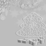 Dekorations-Weihnachtsbaum stock abbildung