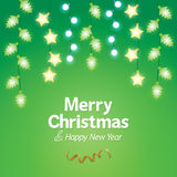 Dekorations-Weihnachtslichthintergrund Lizenzfreie Stockfotografie