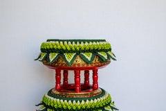 Dekorationsbehälter von thailändischen traditionellen Hochzeitsgeschenken Stockfotografie