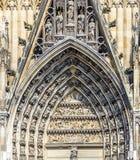 Dekorationselemente am Haupttor Stockbilder