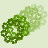 Dekorationsflora-Blattikone Lizenzfreies Stockfoto