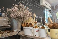 Dekorationskaffeestube Lizenzfreies Stockfoto