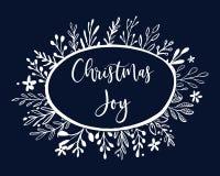 Dekorationssatz des neuen Jahres und der frohen Weihnachten Typografiesatz Die Hauptsymbole des Feiertags Vektorlogo, Embleme, Te vektor abbildung
