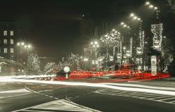 Dekorationsspritzeneffekt des neuen Jahres stockfotos