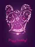 dekorativ ängel stock illustrationer