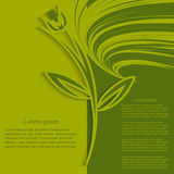 Dekorativ abstrakt bakgrund-blomma applique Royaltyfria Bilder