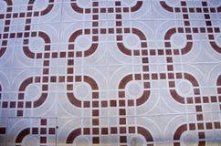 Dekorativ abstrakt bakgrund för golvtegelplattor Arkivfoton