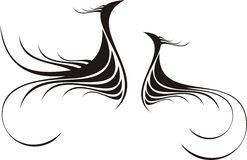 dekorativ abstrakt calligraphy Royaltyfria Bilder