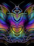 dekorativ abstrakt fjäril stock illustrationer