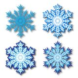 Dekorativ abstrakt snowflake Arkivfoto