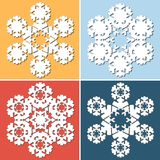 Dekorativ abstrakt snowflake Royaltyfri Fotografi