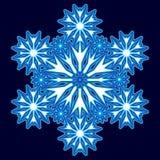Dekorativ abstrakt snowflake Arkivfoton