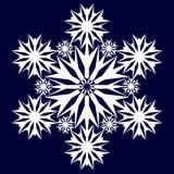 Dekorativ abstrakt snowflake Arkivbild