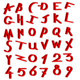 Dekorativ alfabetvektorset Arkivbilder
