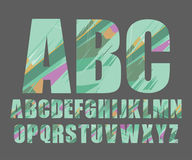 Dekorativ alfabetvektorstilsort Arkivfoto