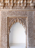 dekorativ alhambra arabisk valvgångkonst Arkivbilder