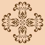 Dekorativ arg monokrom Arkivbild