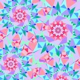 Dekorativ bakgrund för abstrakt sömlös färgrik modell Arkivfoto