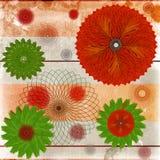 Dekorativ bakgrund för Floaral leaff arkivbilder
