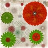 Dekorativ bakgrund för Floaral leaff arkivfoton