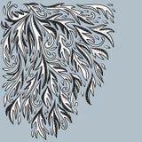 Dekorativ bakgrund för klassisk krusidullklotterillustration royaltyfri illustrationer