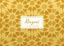 Dekorativ bakgrund för Nazari stilmodell Royaltyfria Foton