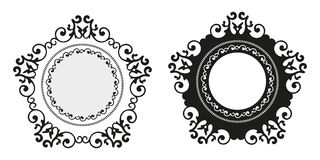 Dekorativ bakgrund för tappningkalligrafi, för retro uppsättning för ram för gräns antikvitetmellanrum för vektor kunglig barock Arkivbilder