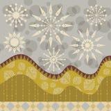 Dekorativ bakgrund för vinter vektor illustrationer