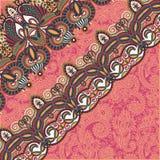Dekorativ bakgrund med blommabandet, band Arkivbild