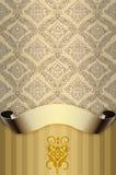 Dekorativ bakgrund med den dekorativa snirkeln och modeller Royaltyfria Bilder