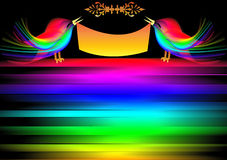 dekorativ bakgrundsfågel Royaltyfria Bilder