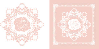 Dekorativ beståndsdel för dekoren som isoleras på viten och rosa färgerna Royaltyfria Bilder
