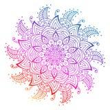 Dekorativ beståndsdel för design dekorativa element Sida för färgläggningbok stock illustrationer