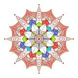 Dekorativ beståndsdel för design dekorativ elementtappning Orientalisk modell, v royaltyfri bild