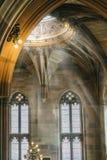 Dekorativ beståndsdel på taket av arkivet av John Rylands Library arkivbild