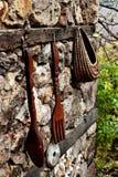 Dekorativ bestick, sked och gaffel, Bulgarien Royaltyfria Bilder